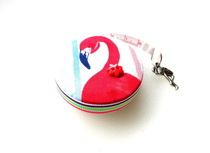 Tape Measure Flamingo Bird Small Retractable Measuring Tape