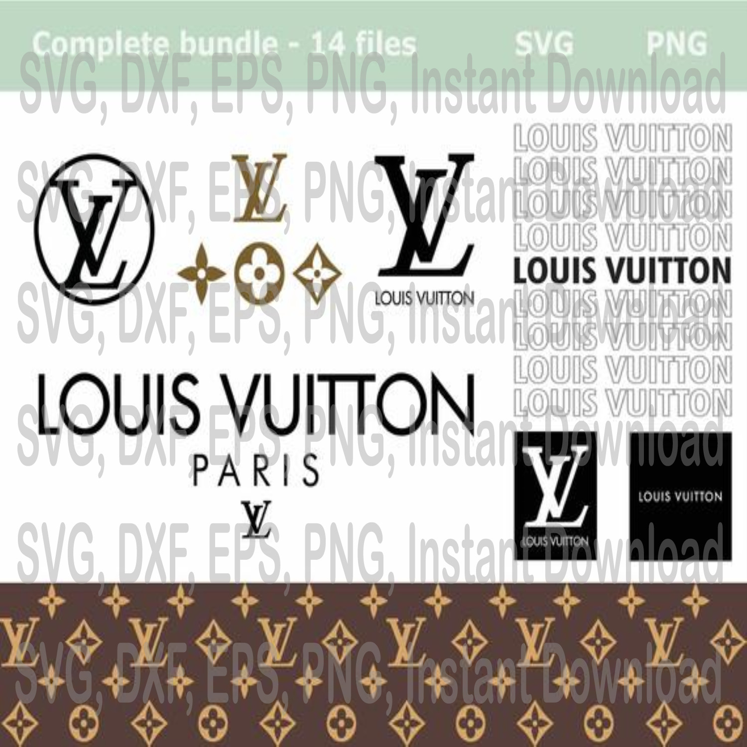 Louis Vuitton Svg Png Lv Svg Logo Bundle Lv By Eventsshop On Zibbet