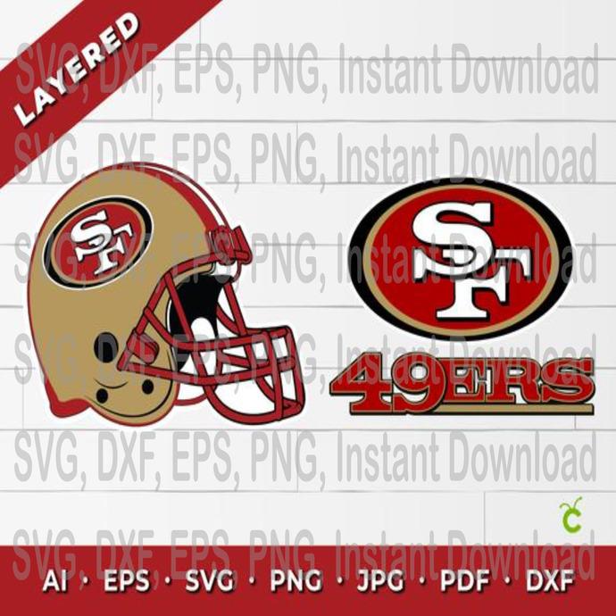 Nfl San Francisco 49ers Helmet Svg 49ers By Eventsshop On Zibbet
