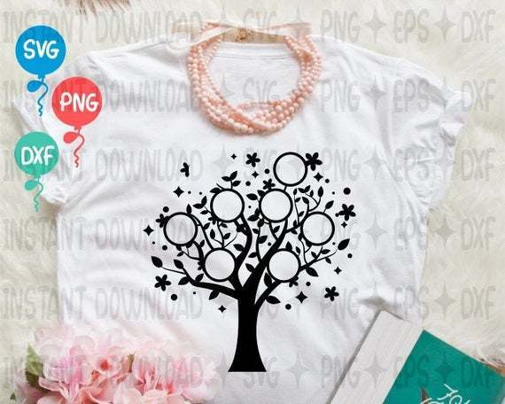 Family Tree SVG  Tree SVG  Family SVG  Family Tree Clipart  Tree Silhouette
