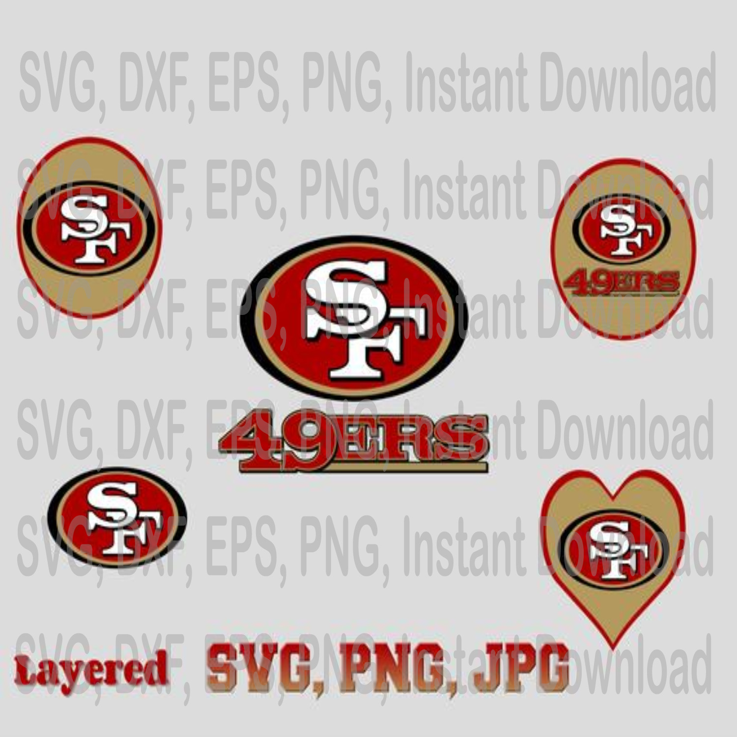 San Francisco Svg Png Jpg 49ers Svg By Eventsshop On Zibbet