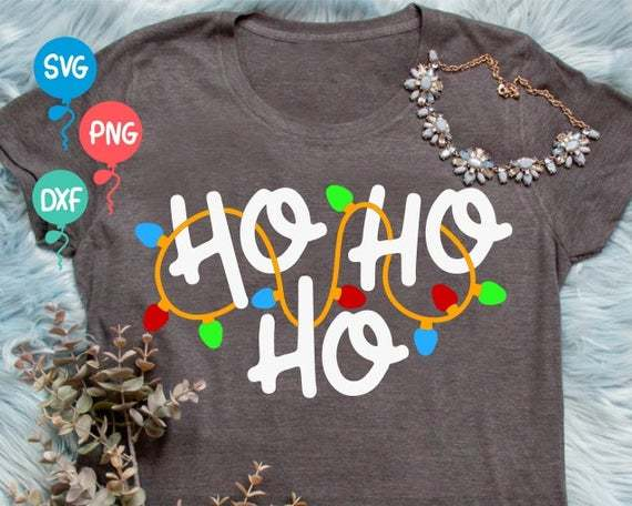 Ho Ho Ho Svg Merry And Bright Svg Christmas By Annasvgfile On Zibbet