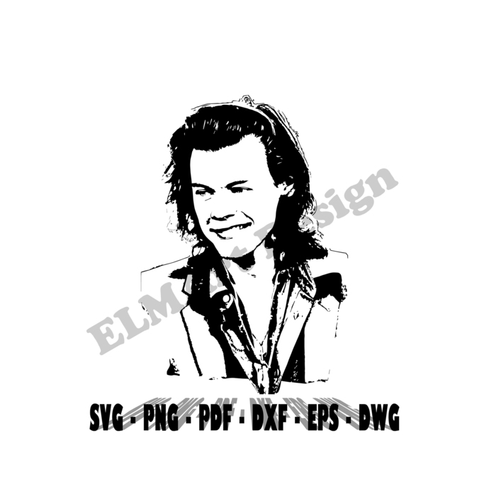 Harry Styles Shirt Design Clipart 6 Format Files Vector Svg Png Pdf Eps Dxf