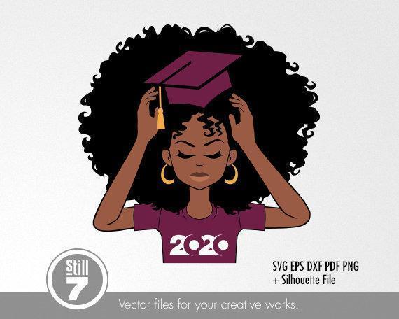 Black Woman svg , Graduation Burgundy svg , svg cutting file , eps dxf pdf png ,