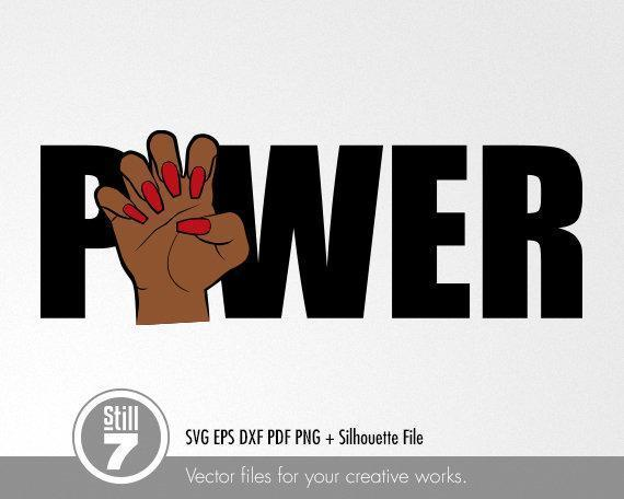 Black Woman svg , Nails svg , svg cutting file , eps dxf pdf png , silhouette