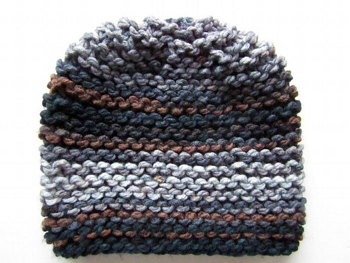 Handmade Knit Hat and Scarf Set for Men