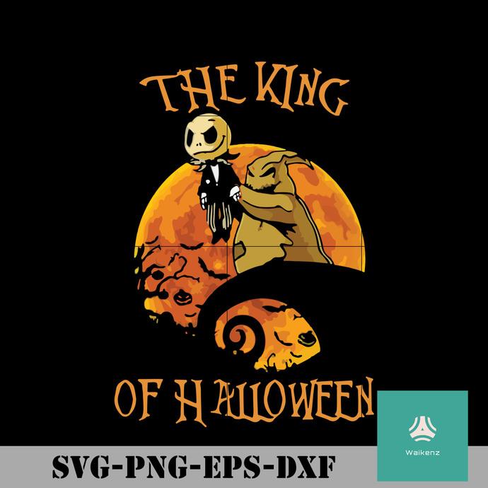 The king of Halloween Jack Skellington svg, Halloween svg, png, dxf, eps digital
