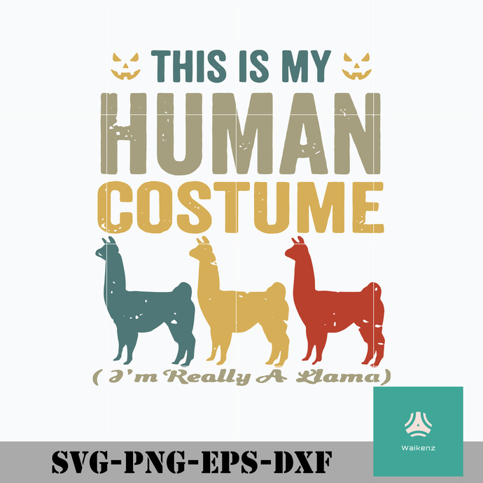 This is my human costume svg, Halloween svg, png, dxf, eps digital file HLW0009