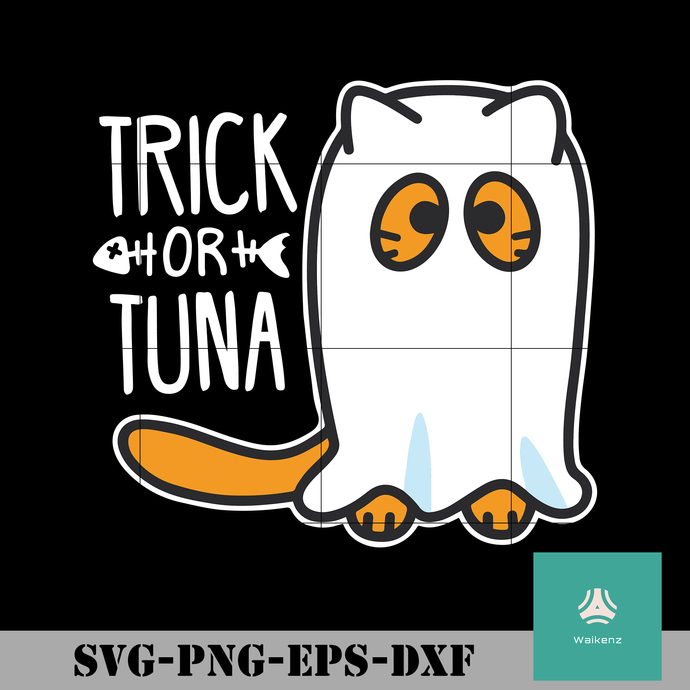 Trick or tuna svg, Halloween svg, png, dxf, eps digital file HLW0019