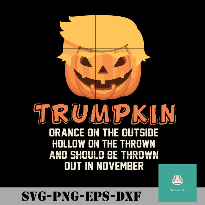 Trumpkin orance on the outside hollow on the inside and show be thrown out in