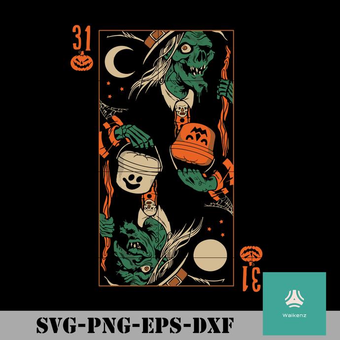 Witch halloween svg, halloween svg, png, dxf, eps digital file HLW0095