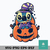 Witch stitch sit on pumpkin svg, halloween svg, png, dxf, eps digital file