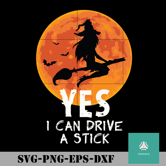 Yes i can drive a stick svg, Halloween svg, png, dxf, eps digital file HLW0030