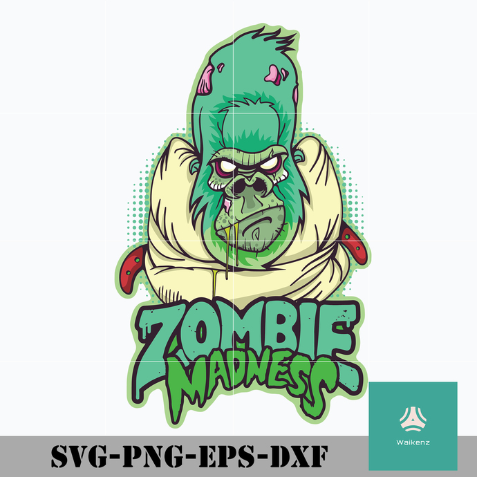Zombie madness svg, Halloween svg, png, dxf, eps digital file HLW0033