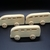 Pkg of 3  Handcrafted Wood Toy Buses 314BH-U-3  Unfinished or Finished