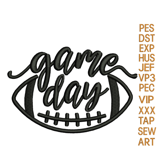 Game day embroidery design,  Game day embroidery design, football embroidery