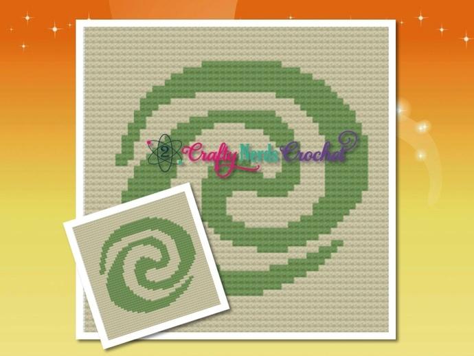 Moana Tefiti Pattern Graph With Single Crochet and C2C Written
