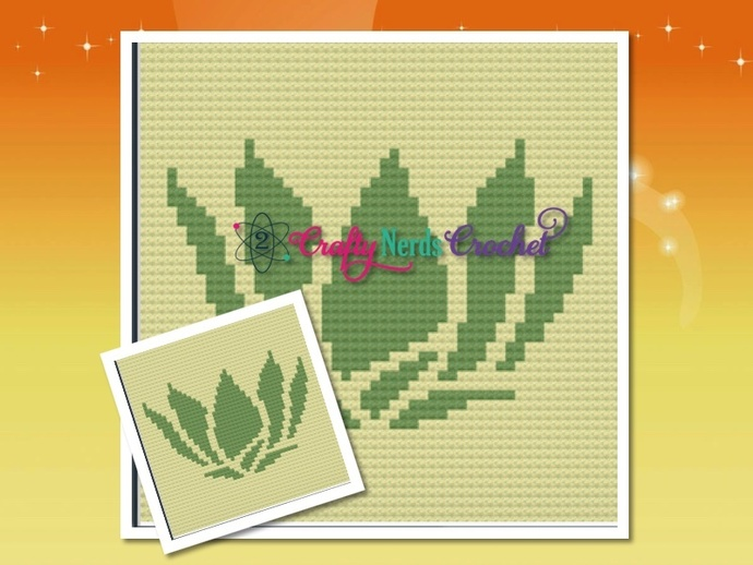 Tiana Lilly Pad Pattern Graph With Single Crochet and C2C Written