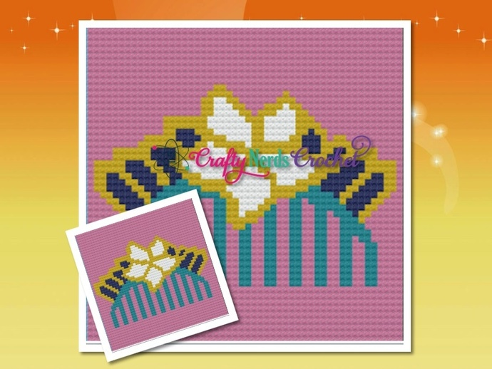 Mulan Comb Pattern Graph With Single Crochet and C2C Written