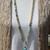 Stunning Long Beaded Necklace with Pendant Amazonite Pearl & Larimar Bohemian