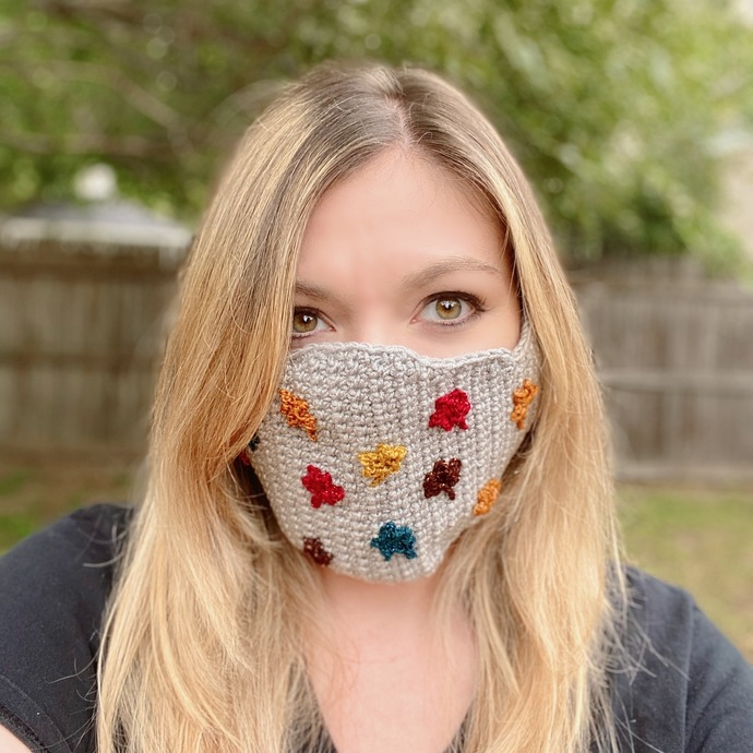 Halloween / Fall Face Mask for Kids & Adults - PATTERN ONLY - Instant Download