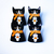Halloween Cat Pins Handmade and Hand Painted Cat Art Pins
