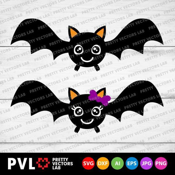 Cute Bat Svg Halloween Svg Boy Girl By Theking Svg File On Zibbet