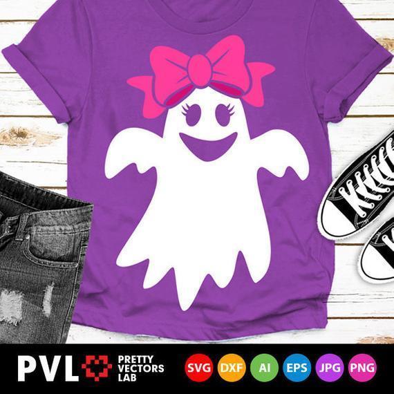 Girl Ghost Svg Halloween Svg Happy By Theking Svg File On Zibbet