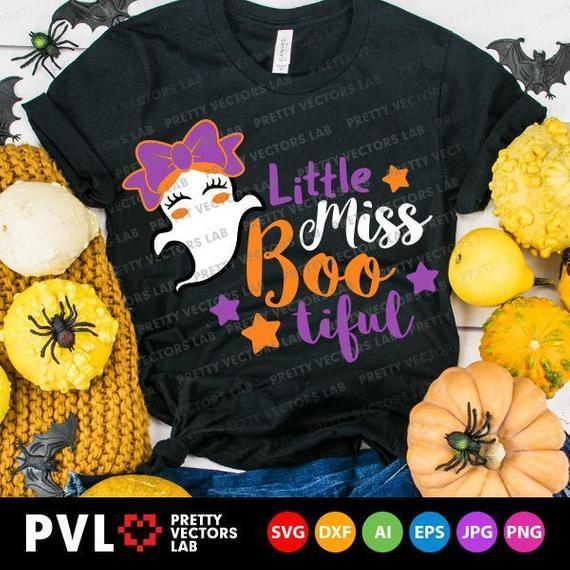 Little Miss Bootiful Svg Girl Halloween By Theking Svg File On Zibbet
