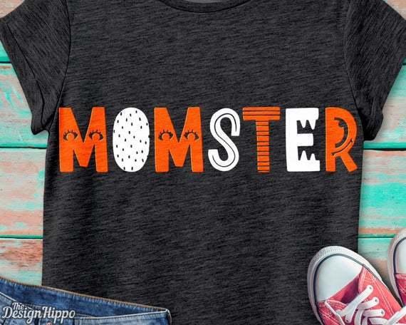 Momster Svg Halloween Svg Mom Svg By Theking Svg File On Zibbet