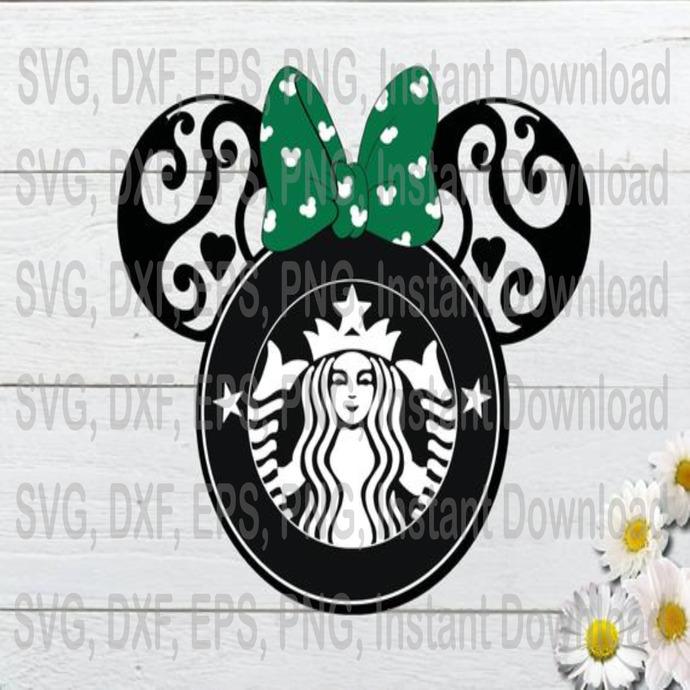 Minnie Mouse Starbuck Logo Svg Disney Mandala By Svgtrendyy On Zibbet