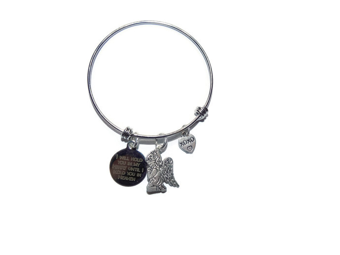 I will hold you in my heart until I hold you in heaven   Memorial Jewelry