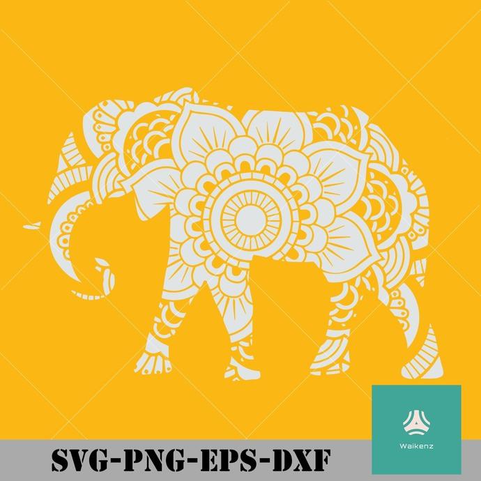 Mandala Elephant svg, png, dxf, eps digital file