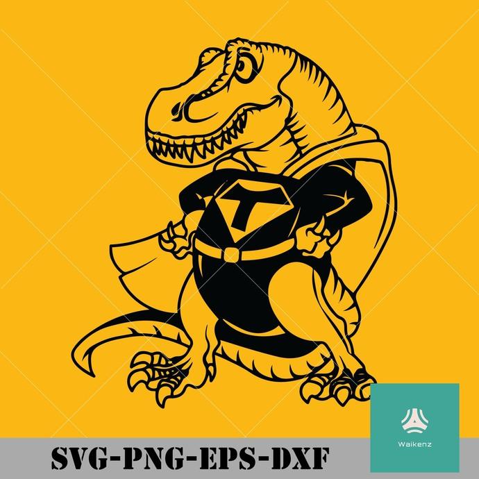 Super T-rex svg, png, dxf, eps digital file