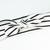 Adult Retro Bow Headband - Black and White Stripe