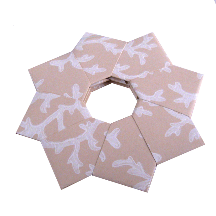 Christmas Ornaments Origami Wreath  Recycled Wallpaper
