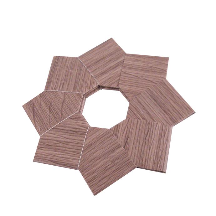 Christmas Ornament Origami Wreath Ash Wood Vinyl Wallpaper