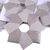 Shiny Silver Christmas Ornament Origami Wreath Recycled Vinyl Wall Covering