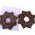 Christmas Ornament Origami Wreath Brown Gold Ribbon Wallpaper