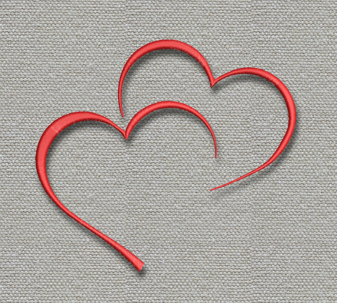 Heart embroidery machine design Love pe pes digital instant download pattern