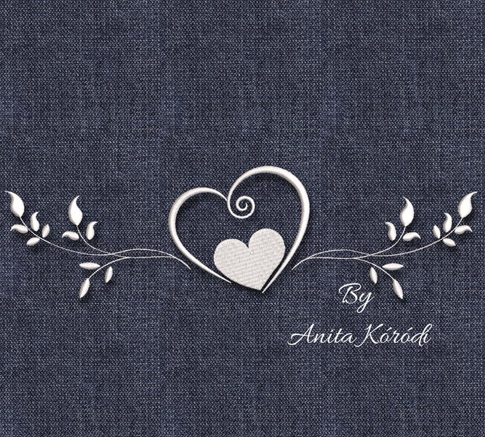 Heart ornament embroidery machine design pes