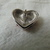 vintage Swarovski crystal enamel patriotic heart pin red clear blue silver