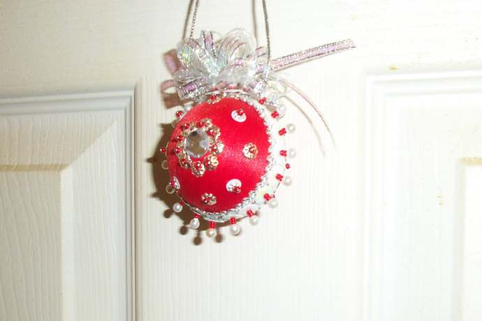 Christmas Red Silk Ornament Small