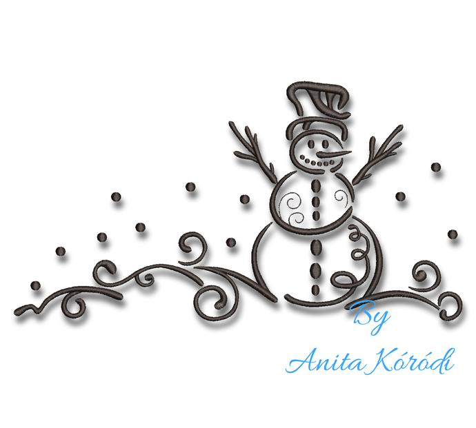 Snowman Machine embroidery design Pe designs Christmas instant digital download