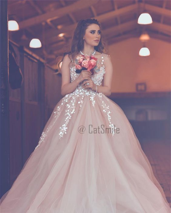 lace applique champagne prom dresses 2020 sleeveless elegant beaded tulle cheap
