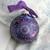 Mandala Ornament- Hand painted on Matte Black Glass in Purple