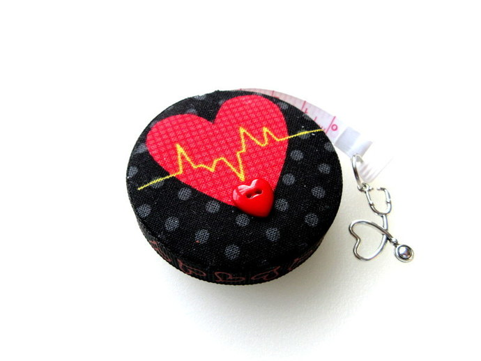 Tape Measure for Doctors and Nurses EKG Retractable Small Measuring Tape