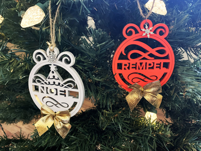 Personalized Christmas Ornaments  With Bows