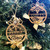 Personalized Christmas Ornaments With Bows  (Set Two)