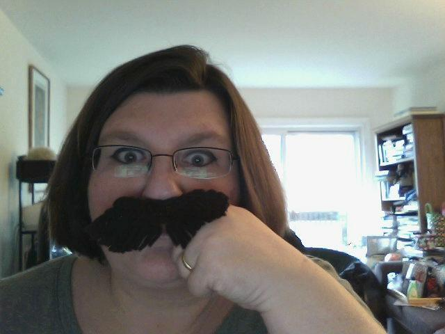 Crocheted Mustache Ring *The Hodgman*
